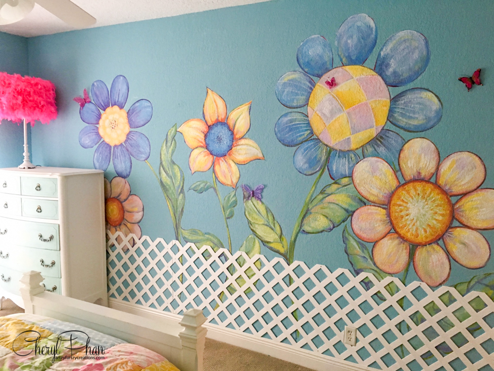 Astonishing Painted Garden Themed Girls Bedroom Cheryl Phan Download Free Architecture Designs Oxytwazosbritishbridgeorg
