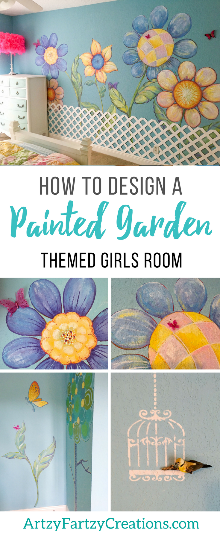 How to design a Garden-themed GIrls Bedroom by Cheryl Phan | Girls Bedroom Ideas | Mural Ideas | Secret Garden | Faux FInishing