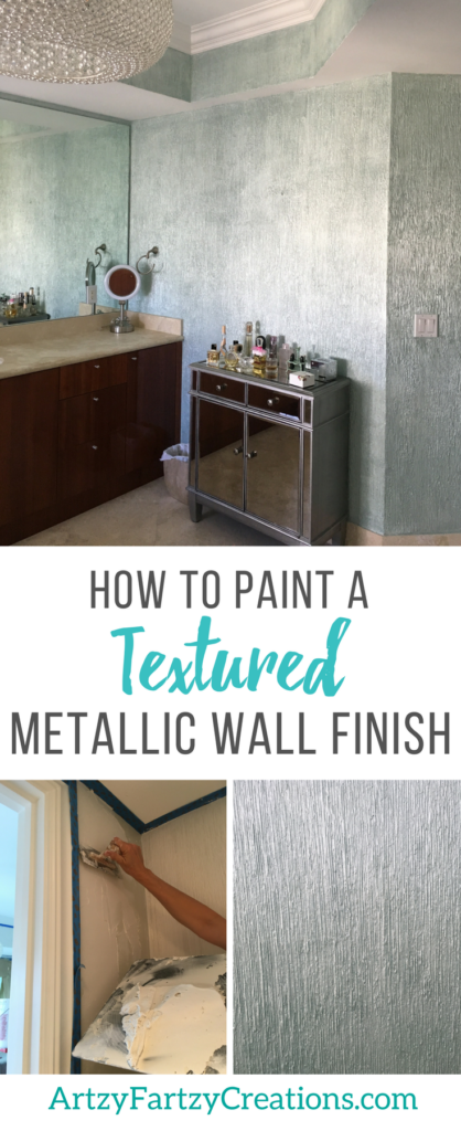 How to Paint a Textured Metallic Wall Finish by Cheryl Phan | Feature Wall , Accent Wall, Faux FInish |Textured Wall Finish