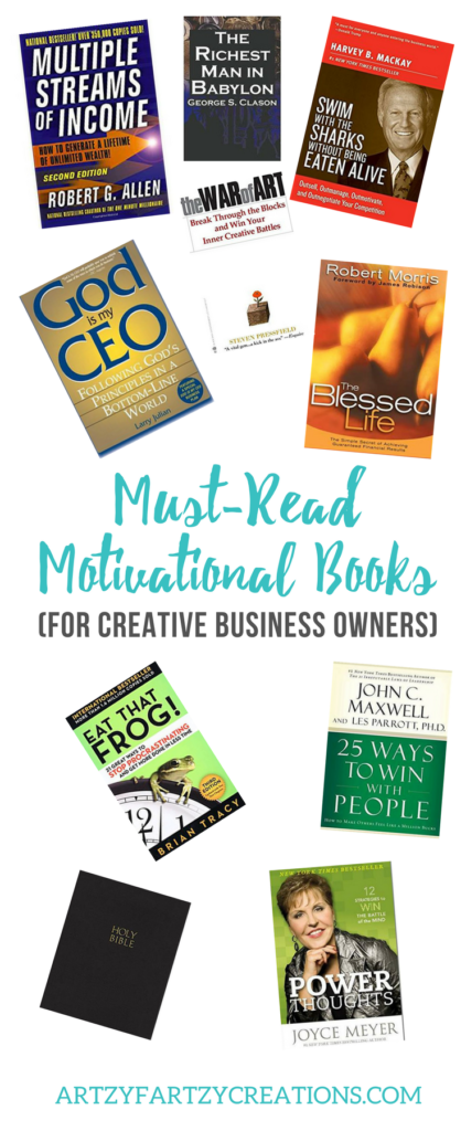 Top Ten Motivational Books for Creative Business Owners _ Business Reading List by Cheryl Phan