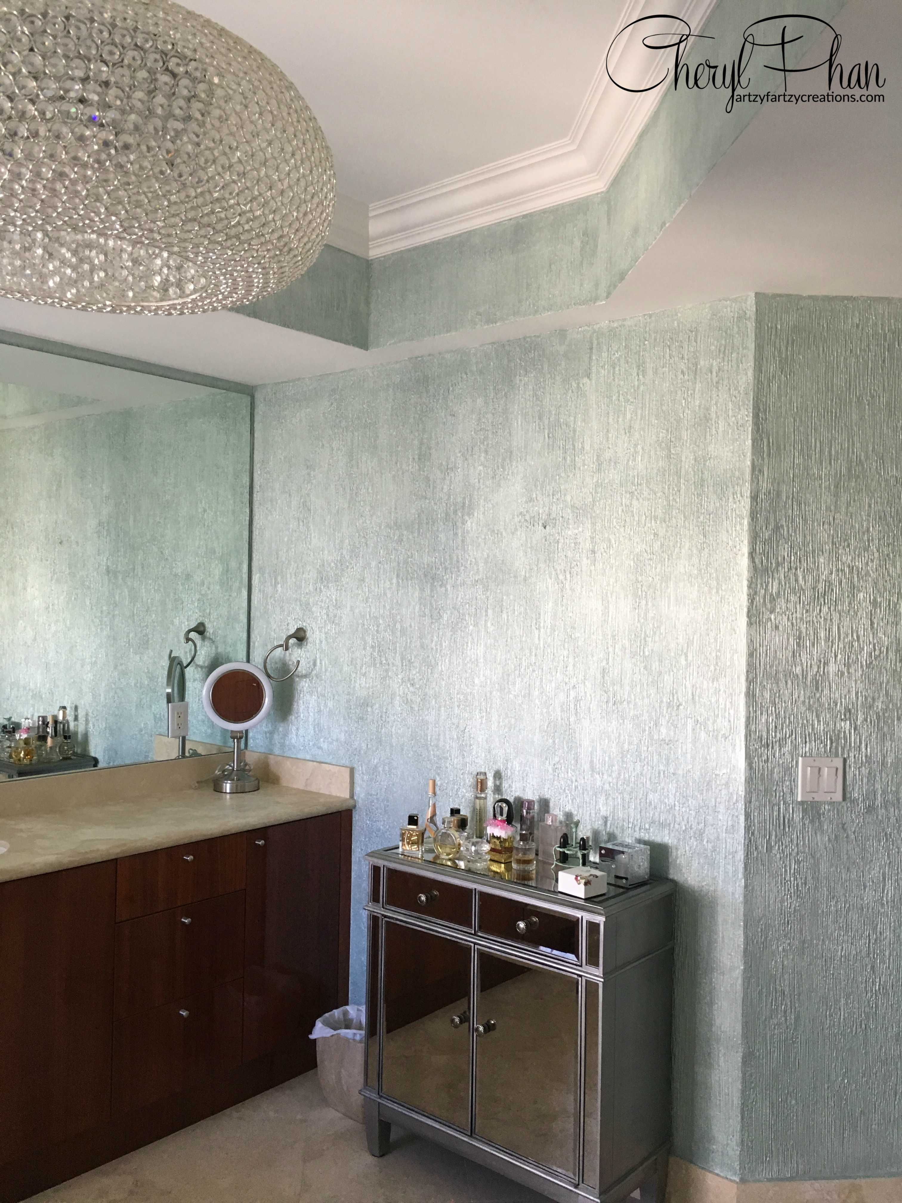 Metallic Paints For Interior Walls: How To Paint A Textured Metallic Wall Finish By Cheryl Phan