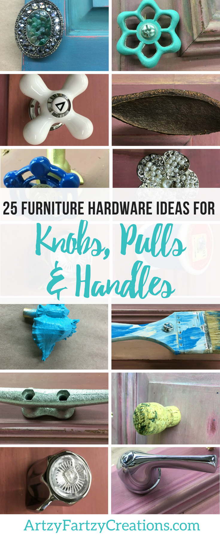 25 Furniture Hardware Ideas for Knobs, Pulls and Handles from the Unexpected | Cheryl Phan | Furniture Makeover Ideas | Drawer Handle Ideas | Drawer Pulls