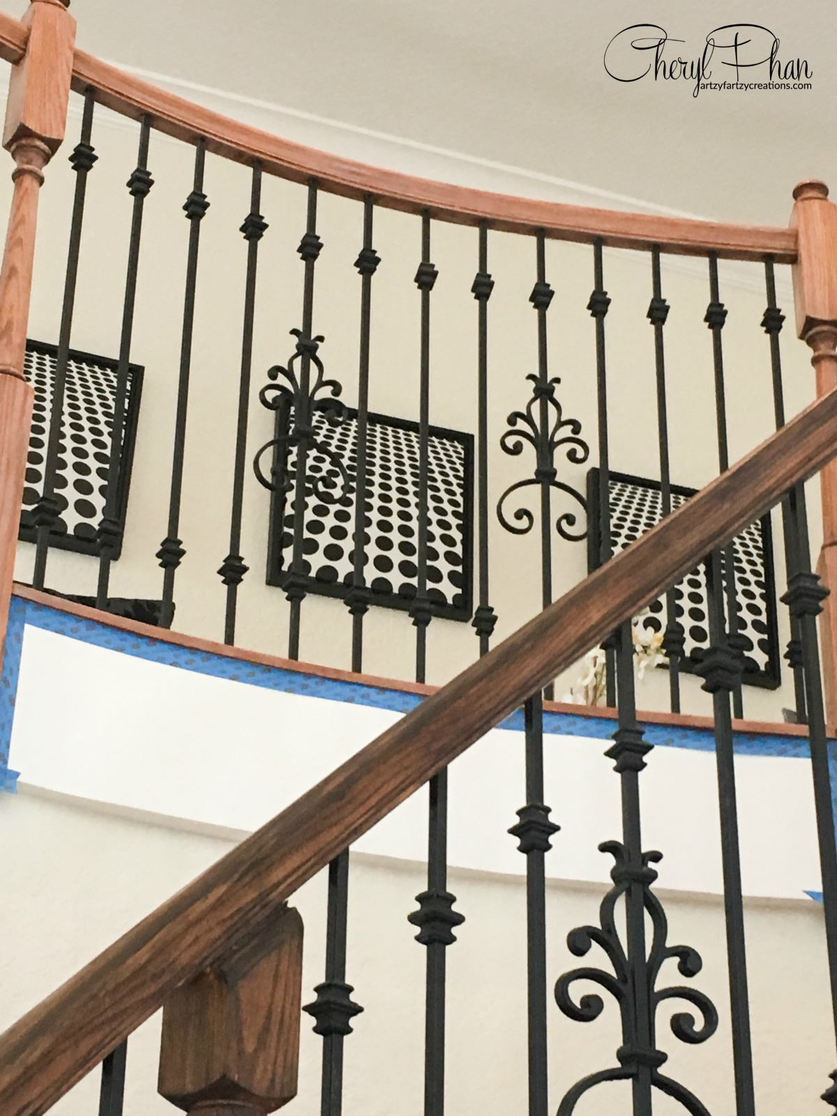 Stained Staircase Rail Cheryl Phan
