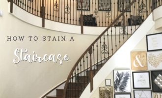 How to stain a staircase_Cheryl Phan