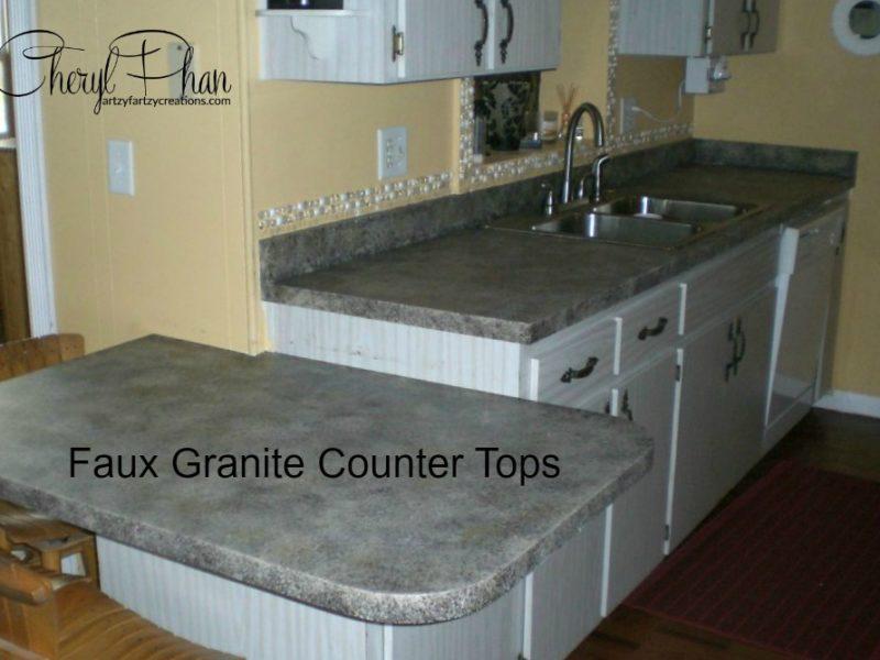 Faux Granite Counter Tops
