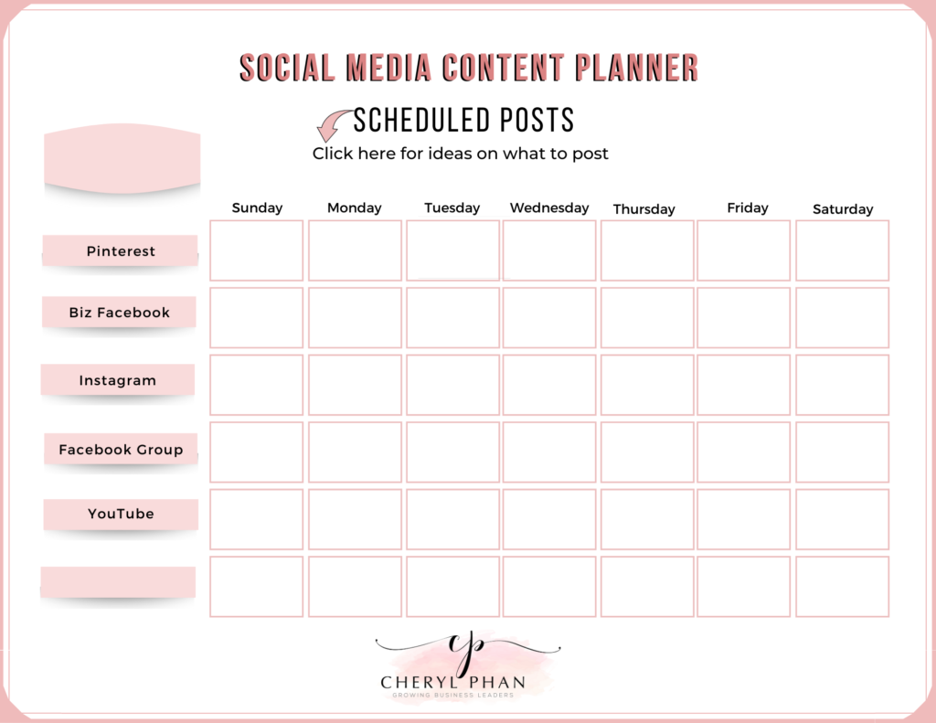 social media content planner_by Cheryl Phan