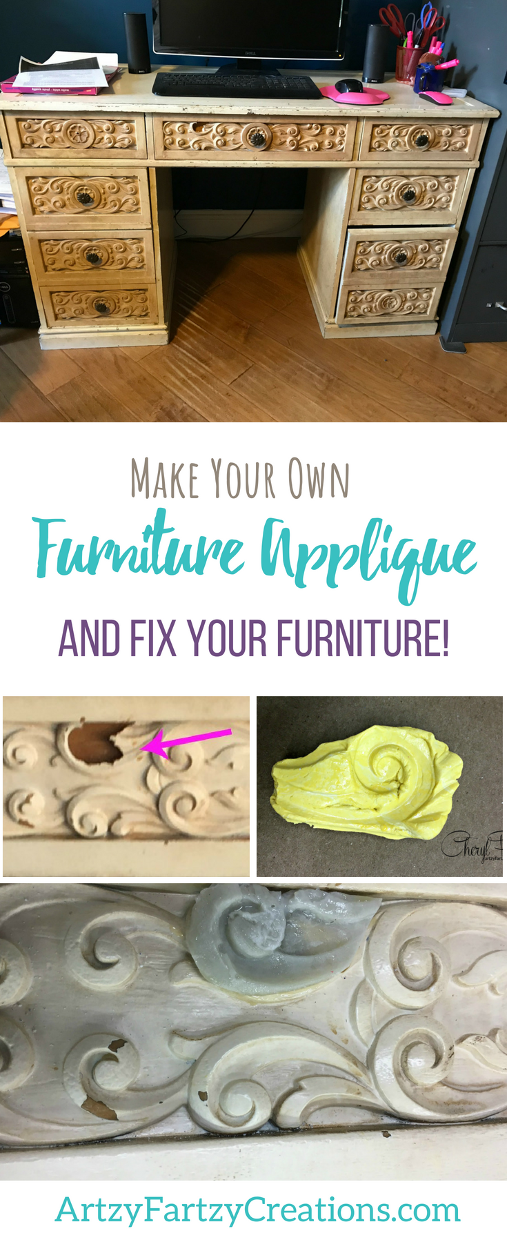 Make Your Own Furniture Applique and Fix your Furniture with Cheryl Phan|ArtzyFartzyCreations