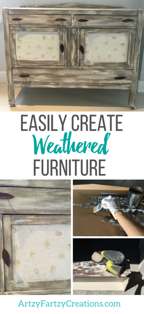 HOW TO CREATE WEATHERED LOOK FURNITURE_DISTRESS FURNITURE_CHALKY PAINT FURNITURE by Cheryl Phan
