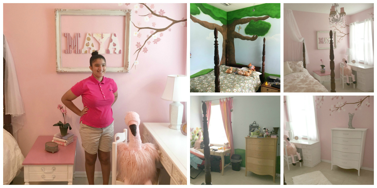 Learn How To Transform A Little Girl's Room in Two Days
