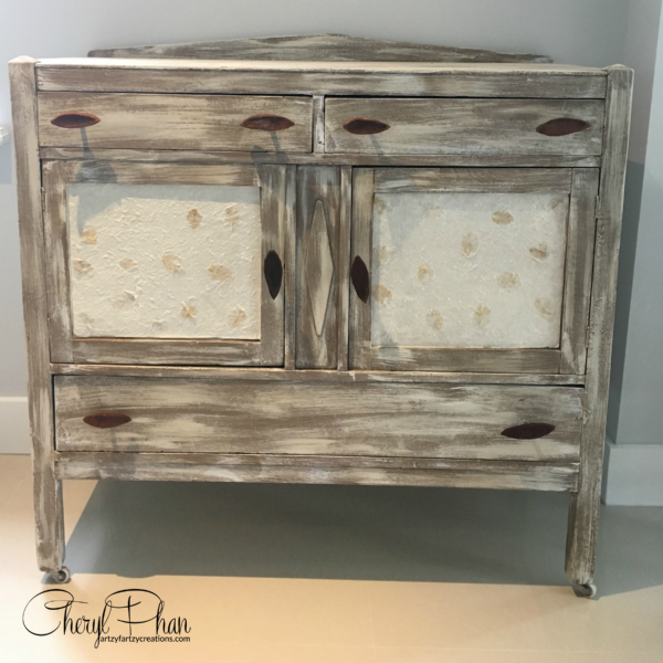 Weathered Look Furniture-After-Artzy Fartzy Creations