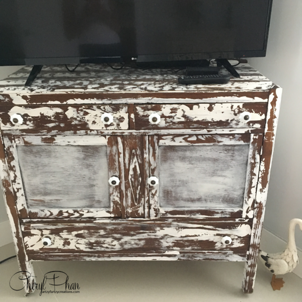 Weathered Look Furniture-Before-Artzy Fartzy Creations