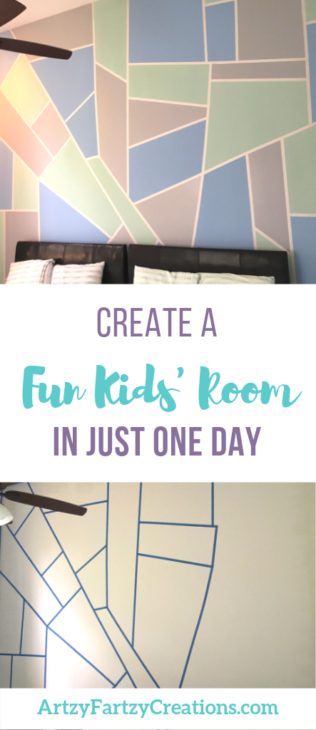 How to create a fun kids' room in one day by Cheryl Phan @ ArtzyFartzyCreations.com