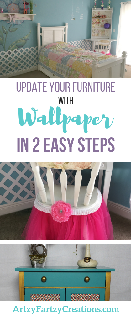 DIY Expert Cheryl Phan shares how to update your furniture with wallpaper. This is a super easy DIY project you can complete in just 2 steps, and the results are stunning!