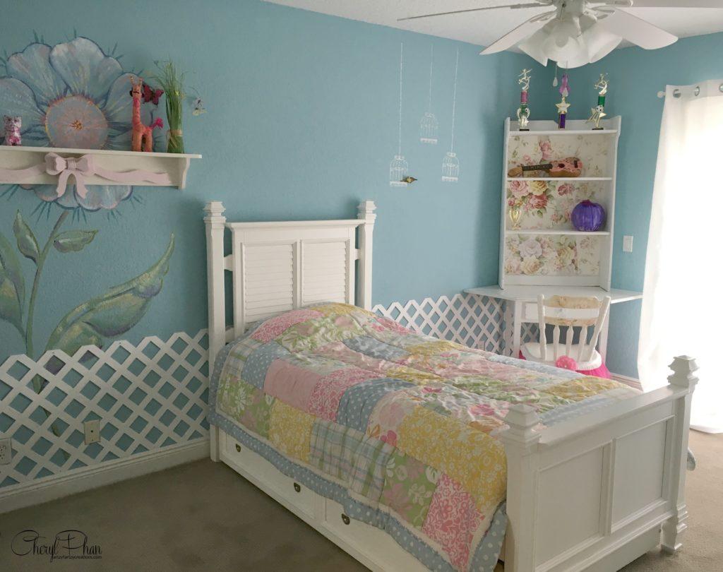 How to use wallpaper on furniture - wallpaper bookshelf