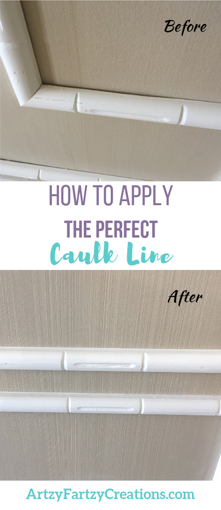 How to Apply the Perfect Caulk Line by Cheryl Phan @ ArtzyFartzyCreations.com