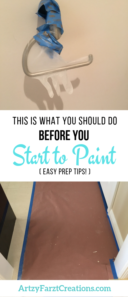 This is what you need to do before you start to paint - tips from DIY Expert and Painter Cheryl Phan or ArtyFarzyCreations.com