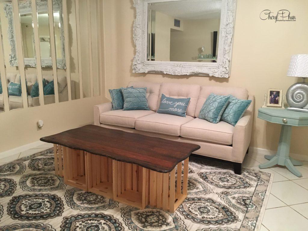 How to Design a Custom Wood Crate Coffee Table by Cheryl Phan | ArtzyFartzyCreations.com
