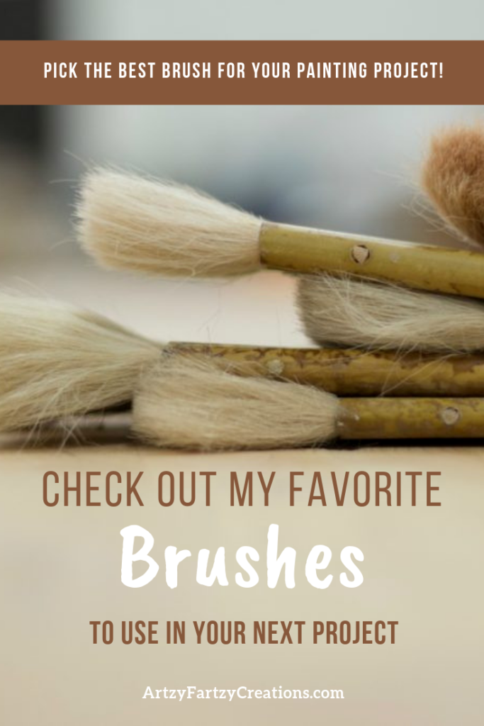 My Favorite Paint Brushes by Cheryl Phan @ ArtzyFartzyCreations.com