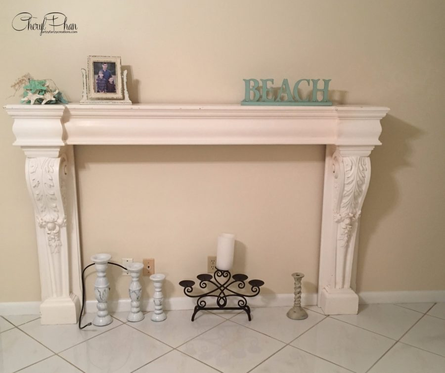 Portuguese Tile Fireplace Surround