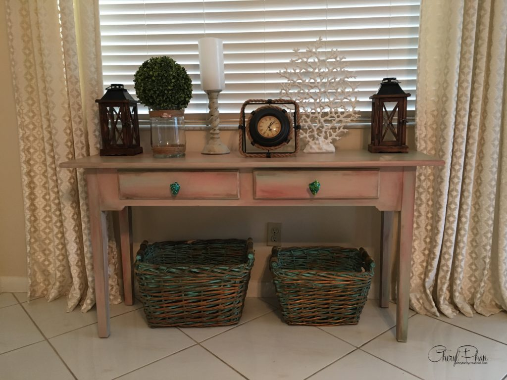 Blending Technique Furniture Rescue by Cheryl Phan @ ArtzyFartzyCreations.com