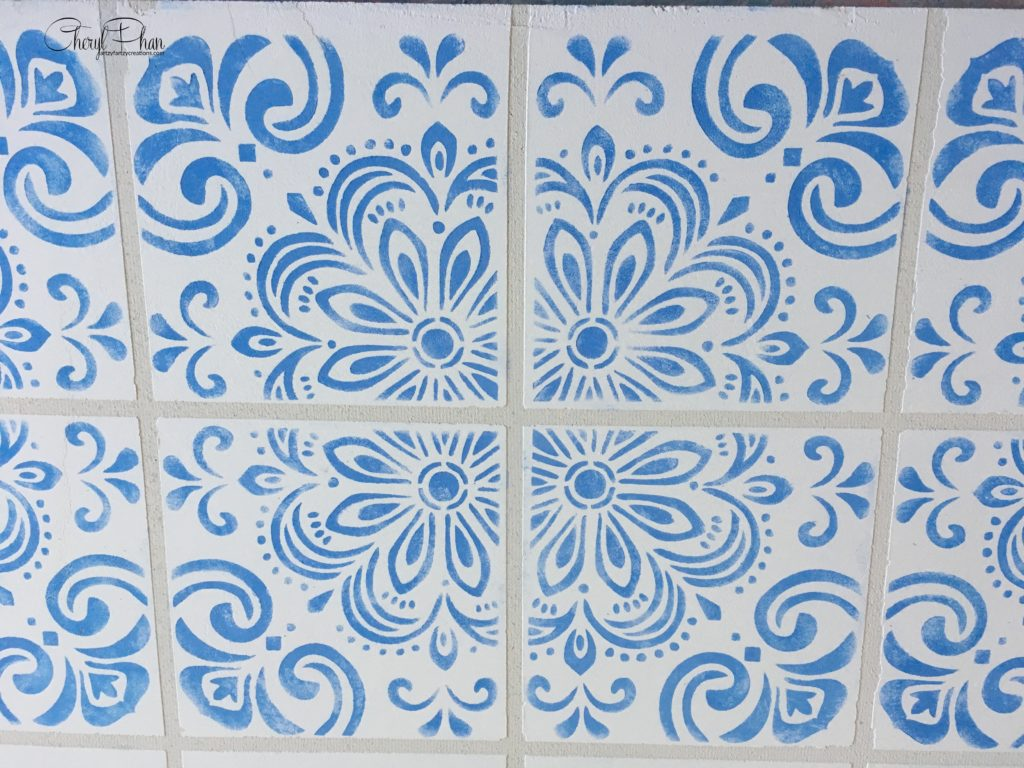 Portuguese Tile Fireplace Surround - Cheryl Phan ArtzyFartzyCreations.com