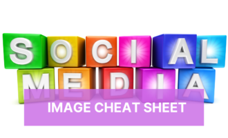 Social media image size cheat sheet by Cheryl Phan