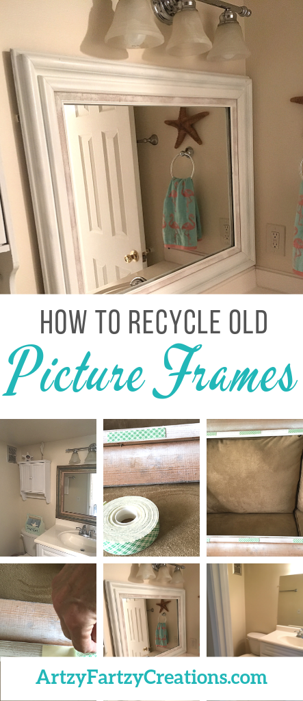Don't Discard Your Old Picture Frames - Cheryl Phan@ArtzyFartzyCreations.com