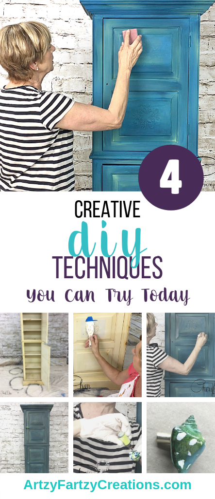 4 creative diy techniques by Cheryl Phan @ArtzyFartzyCreations.com
