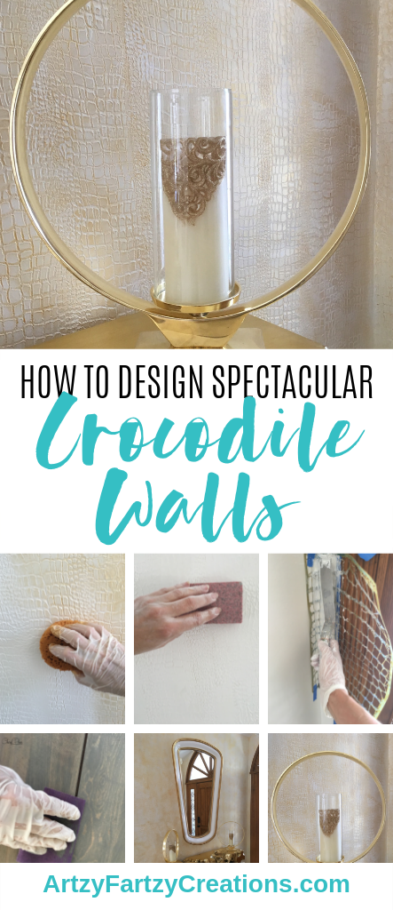 Bold & Spectacular Gold Crocodile Walls Your Guests Won't Stop Talking About by Cheryl Phan_ArtzyFartzyCreations.com