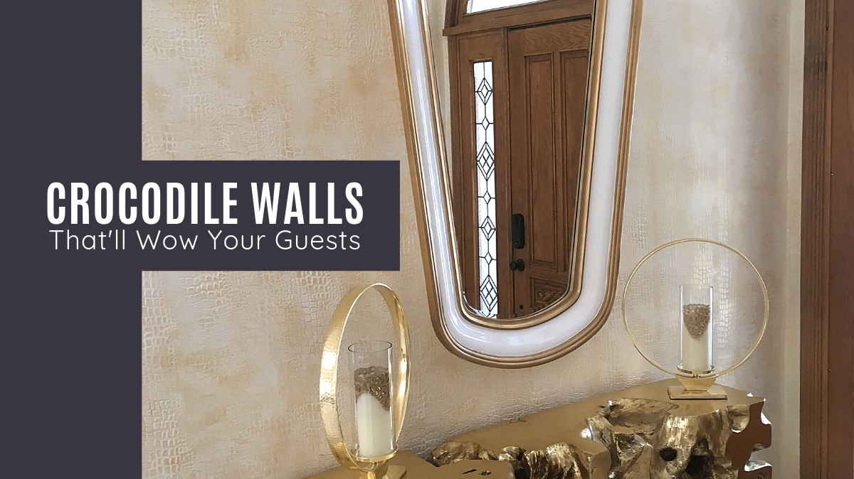 Bold & Spectacular Gold Crocodile Walls Your Guests Won't Stop Talking About