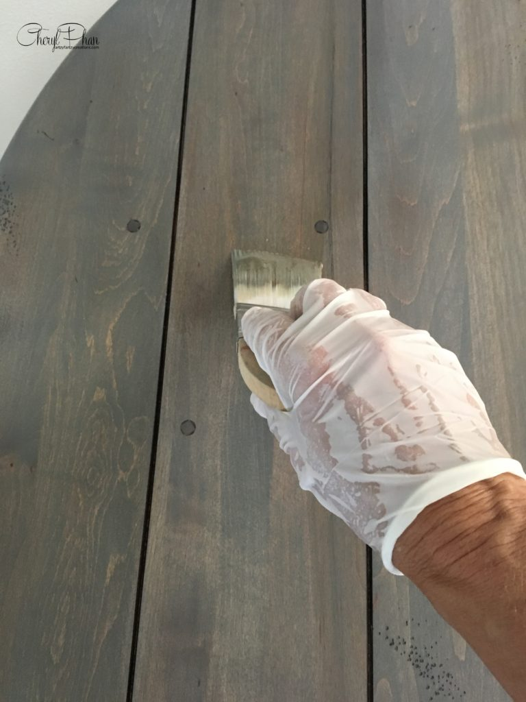 Create a Weathered Wood Finish Table in 3 Easy Steps_Cheryl Phan_ArtzyFartzyCreations.com