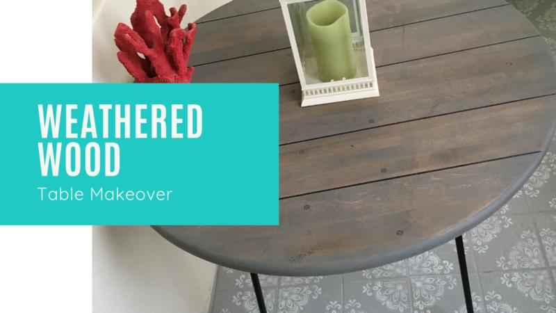 Create a Weathered Wood Finish Table in 3 Easy Steps_Cheryl Phan_ArtzyFartzyCreations.com