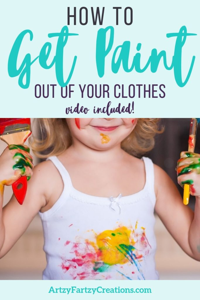 How to get paint out of your clothes by Cheryl Phan