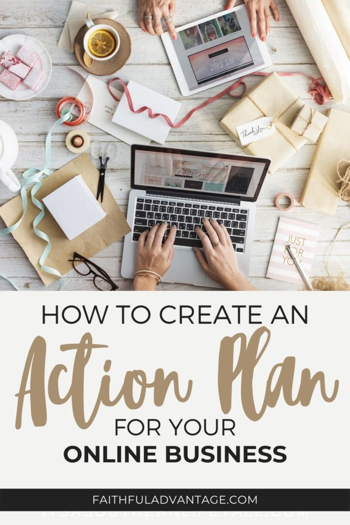 How to create an action plan and timeline for your online business