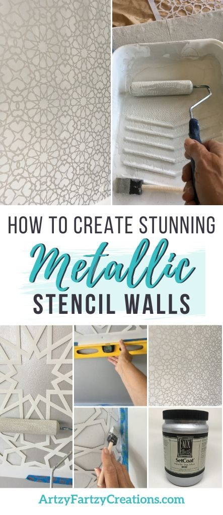 How to Add a Bold Statement to your walls with Silver Metallic Paint
