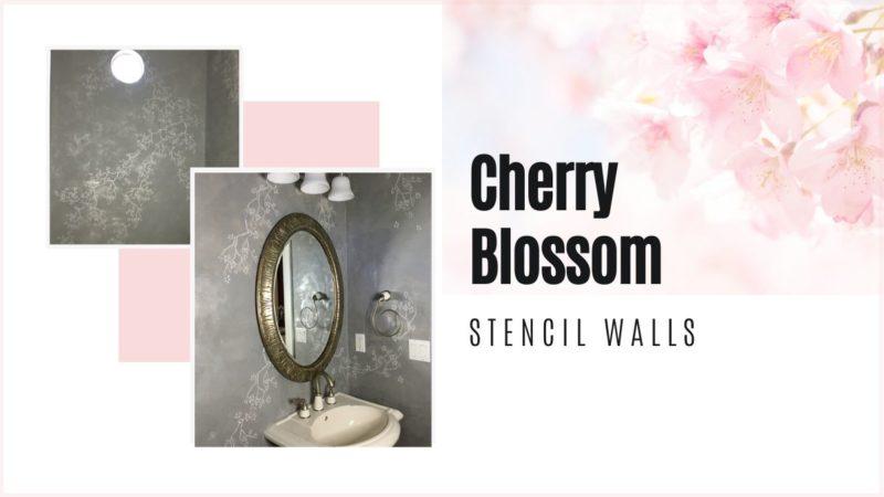 Cherry blossom decorative wall finish_Cheryl Phan