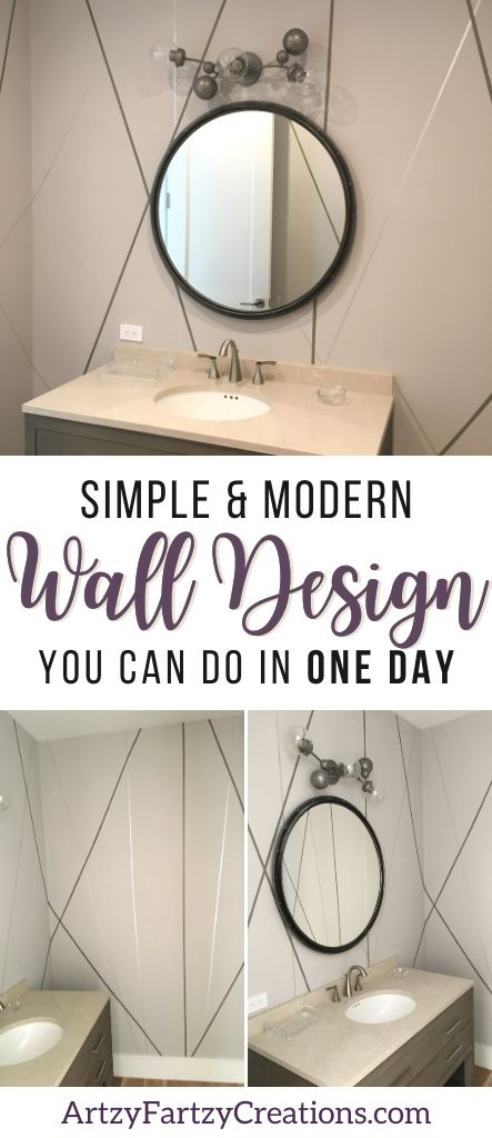 Simple and Fast Modern Wall Finish You Can Do In One day by Cheryl Phan @ArtzyFartzyCreations.com