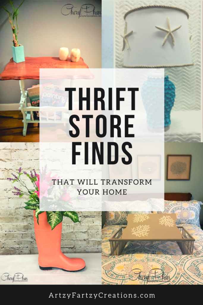 Thrift store finds that will transform your home - by Cheryl Phan - ArtzyFartzyCreations.com