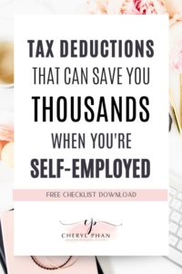 What you can write off on your taxes as a self-employed business owner