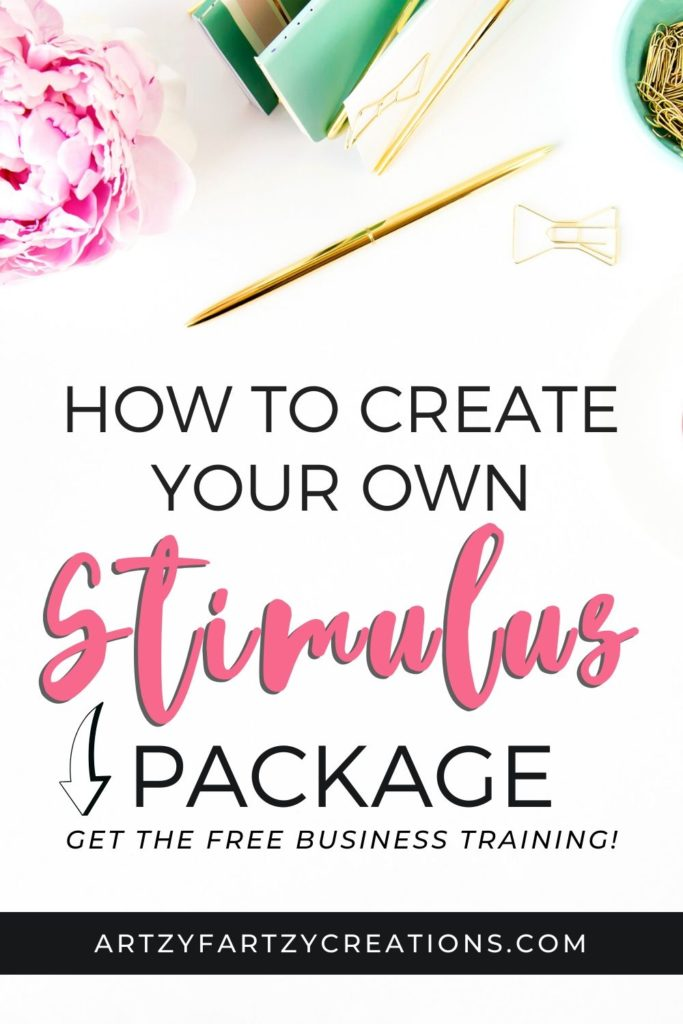 How to create your own stimulus package_ArtzyFartzyCreations.com