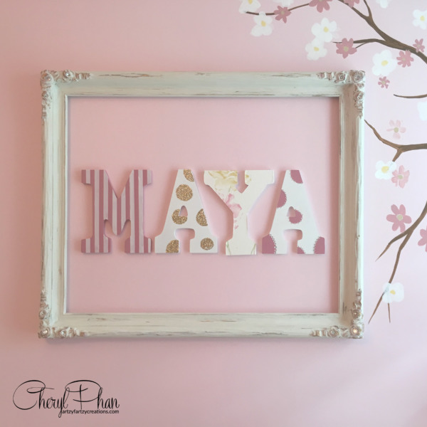 How to hang letters on a wall