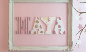 The trick to hanging letters on a wall by Cheryl Phan