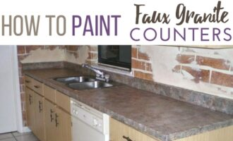 How to paint faux granite countertops
