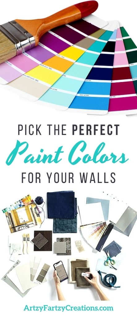 How to Pick the Perfect Paint Colors for Your Walls by Cherl Phan @ ArtzyFartzyCreations.com