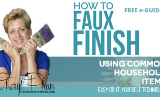 How to faux finish using common household items eBook