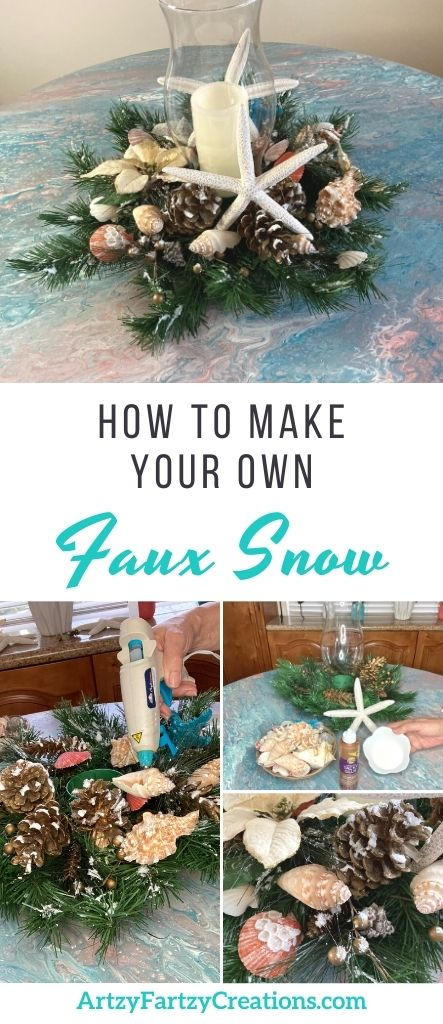 How to make faux snow with Epsom salt by Cheryl Phan