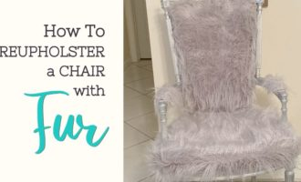 How to reupholster a chair with fur_ArtzyFartzyCreations.com