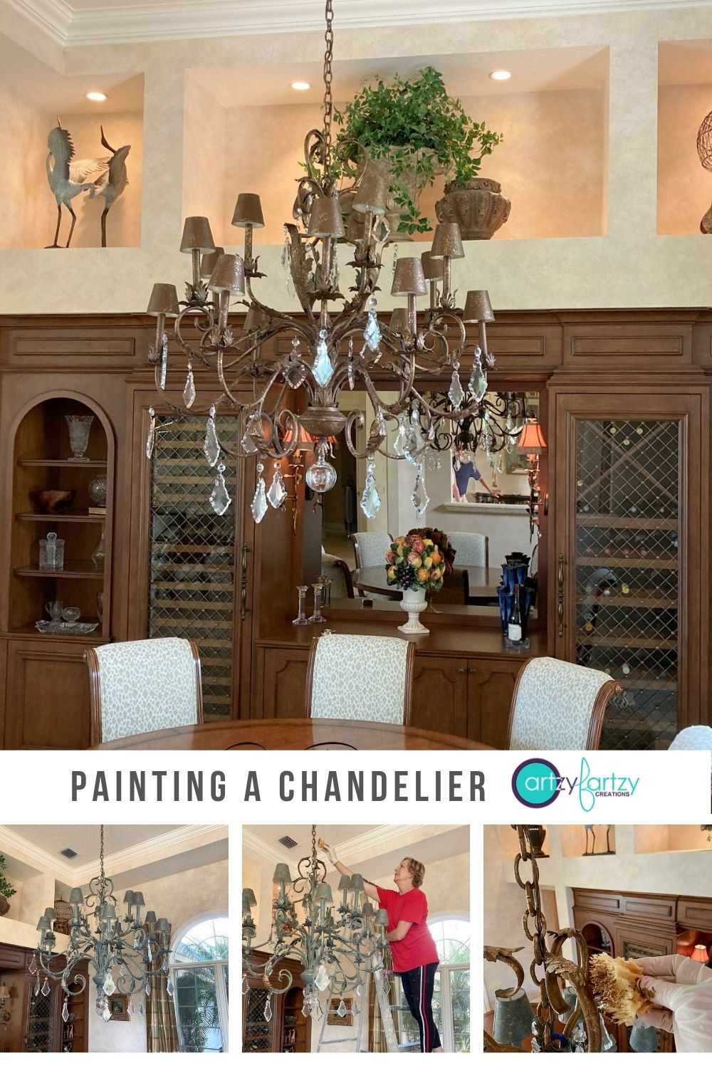 How to Paint a Hanging Chandelier