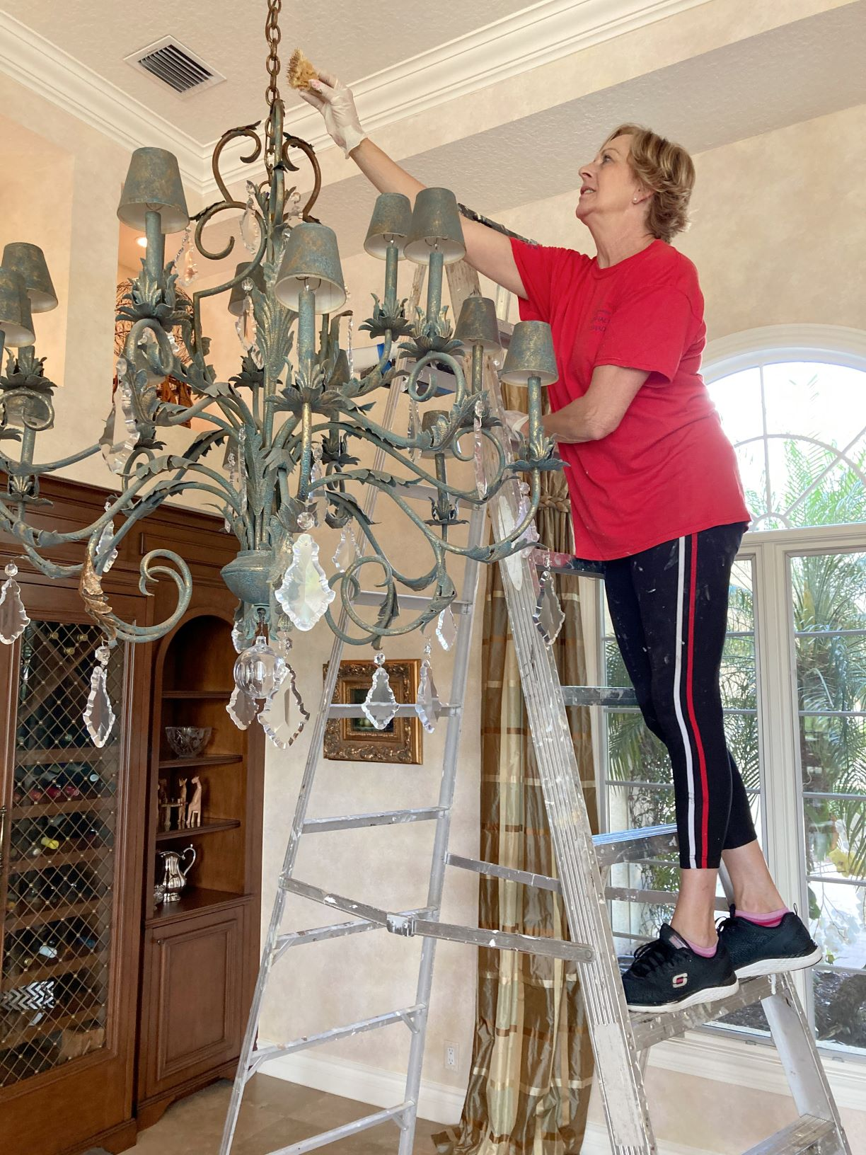Hanging a chandelier