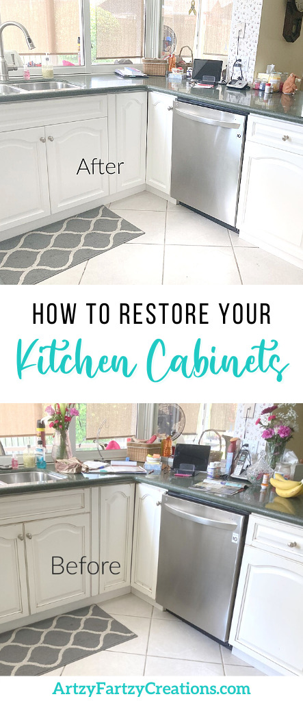 How to restore your kitchen cabinets by Cheryl Phan